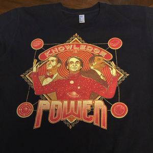 Knowledge is Power Medium Science Geek T-Shirt